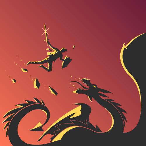 Un jour un dragon surgit et …